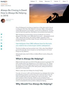 Always Be Closing Is Dead summary