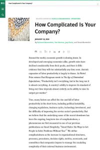 How Complicated Is Your Company? summary