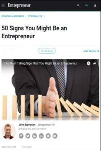 50 Signs You Might Be an Entrepreneur summary