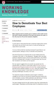 How to Demotivate Your Best Employees summary
