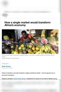 How a Single Market Would Transform Africa's Economy summary