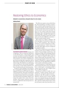 Restoring Ethics to Economics  summary