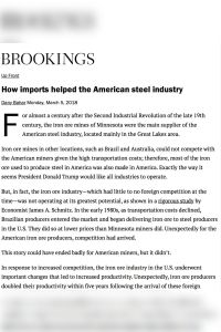 How Imports Helped the American Steel Industry summary