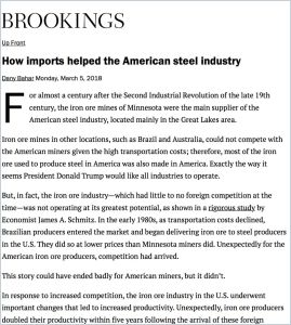 How Imports Helped the American Steel Industry
