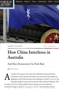 How China Interferes in Australia summary