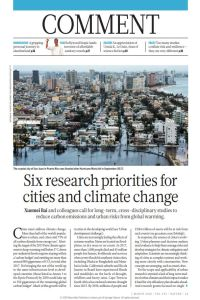 Six Research Priorities for Cities and Climate Change summary