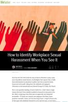 How to Identify Workplace Sexual Harassment When You See It