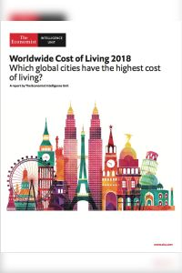 Worldwide Cost of Living 2018 summary