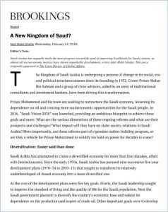 A New Kingdom of Saud?