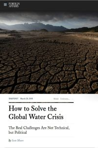 How to Solve the Global Water Crisis summary