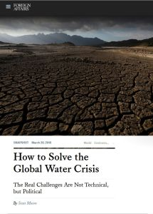 How to Solve the Global Water Crisis