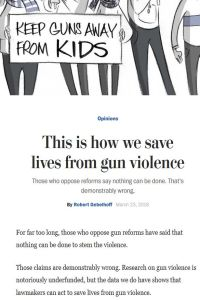This is how we save lives from gun violence  summary