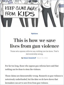 This is how we save lives from gun violence