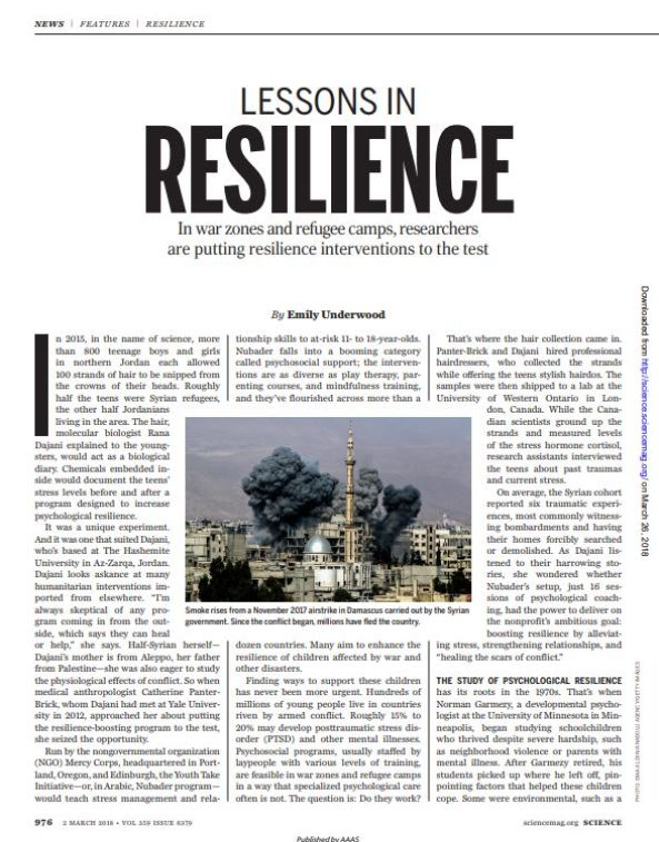 Image of: Lessons in Resilience