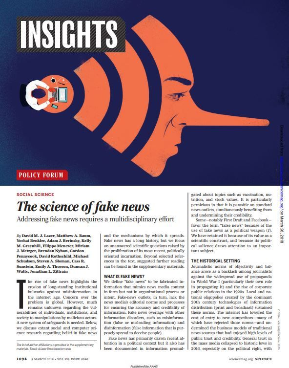 Image of: The Science of Fake News
