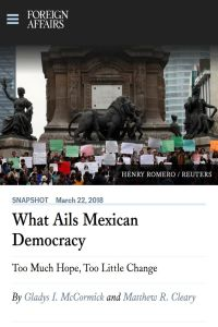 What Ails Mexican Democracy summary