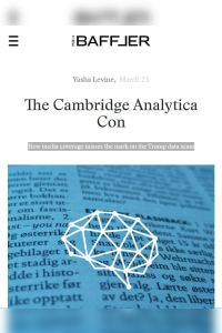 The Cambridge Analytica Con summary