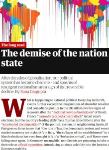 The demise of the nation state summary