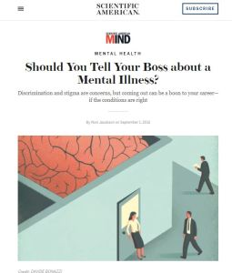 Should You Tell Your Boss about a Mental Illness? summary