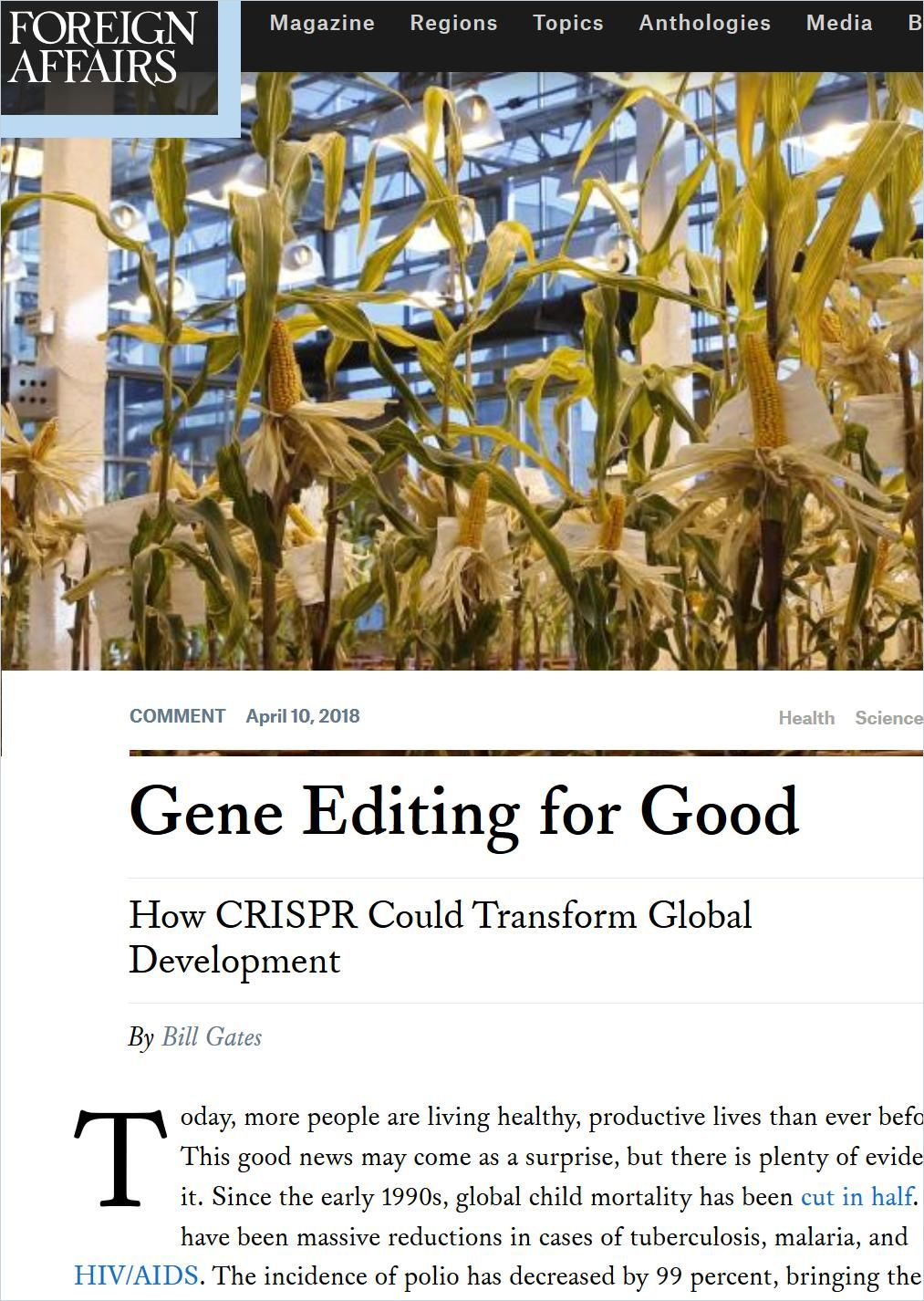 Image of: Gene Editing for Good