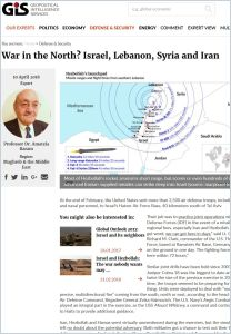 War in the North? Israel, Lebanon, Syria and Iran