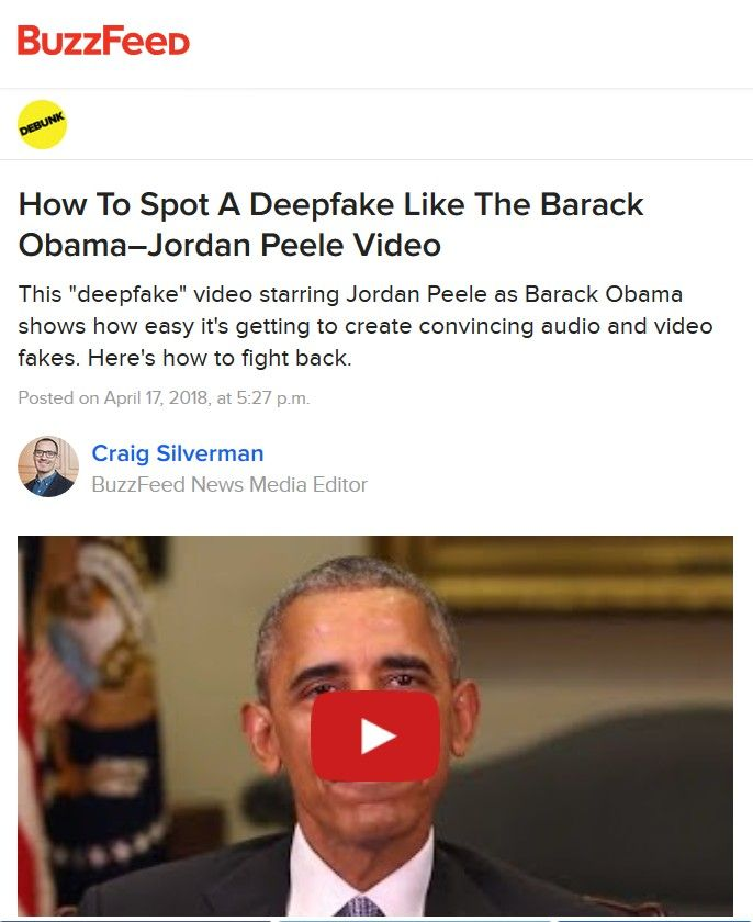 Image of: How to Spot a Deepfake like the Barack Obama–Jordan Peele Video