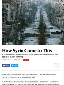 How Syria Came to This