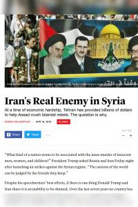 Iran's Real Enemy in Syria summary