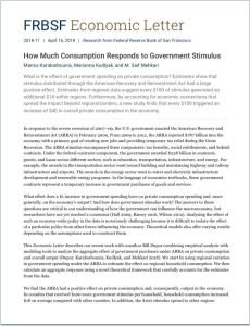 How Much Consumption Responds to Government Stimulus