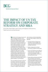 The Impact of US Tax  Reform on Corporate Strategy and M&A summary