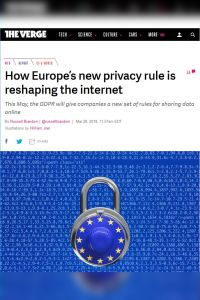 How Europe's New Privacy Rule Is Reshaping the Internet summary