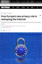 How Europe's New Privacy Rule Is Reshaping the Internet