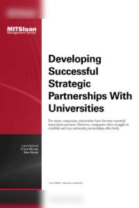 Developing Successful Strategic Partnerships with Universities summary