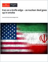 Iran on a knife edge – as nuclear deal goes up in smoke