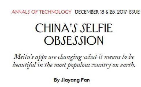 China's Selfie Obsession