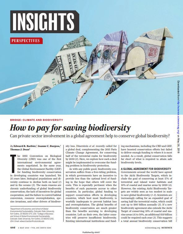 Image of: How to Pay for Saving Biodiversity