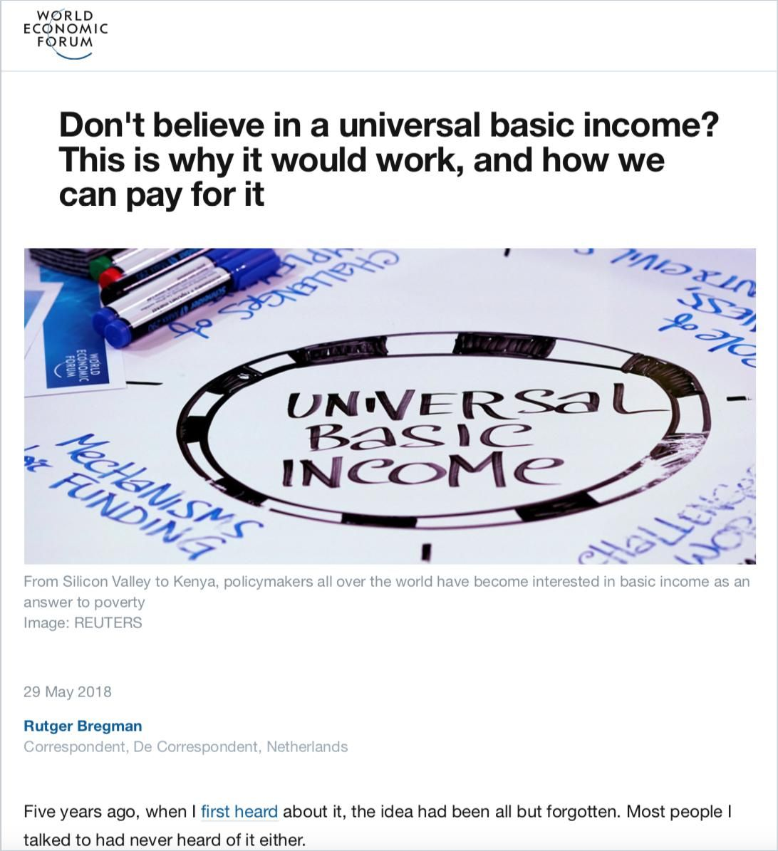 Image of: Don't Believe in a Universal Basic Income?
