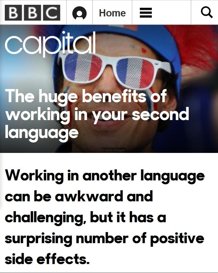 Image of: The Huge Benefits of Working in Your Second Language