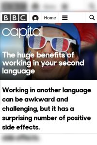 The Huge Benefits of Working in Your Second Language summary