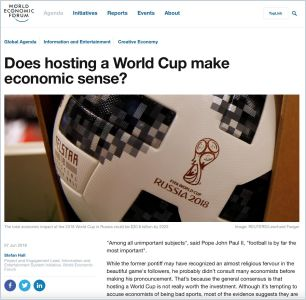 Does hosting a World Cup make economic sense? summary