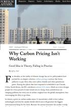 Why Carbon Pricing Isn't Working