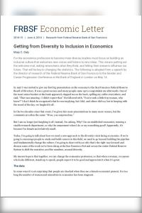 Getting from Diversity to Inclusion in Economics summary