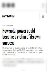 How Solar Power Could Become a Victim of Its Own Success summary