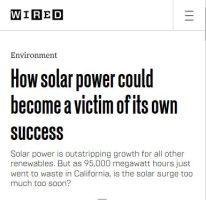 How Solar Power Could Become a Victim of Its Own Success