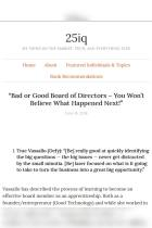 """Bad or Good Board of Directors"""