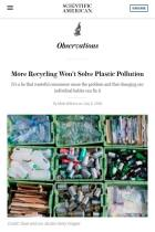 More Recycling Won't Solve Plastic Pollution