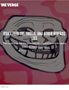Don't Feed the Trolls, and Other Hideous Lies