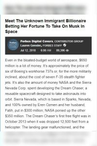 Meet the Unknown Immigrant Billionaire Betting Her Fortune to Take On Musk in Space summary