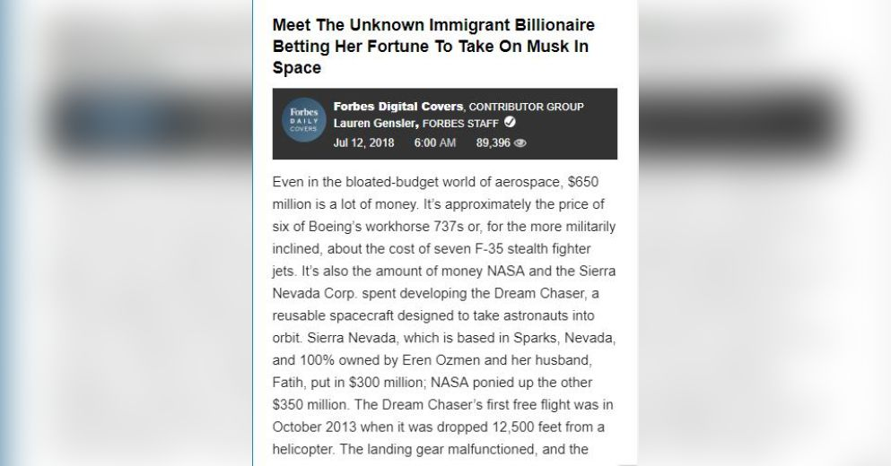 Meet the Unknown Immigrant Billionaire Betting Her Fortune