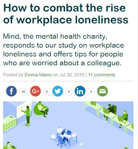 Image of: How to Combat the Rise of Workplace Loneliness